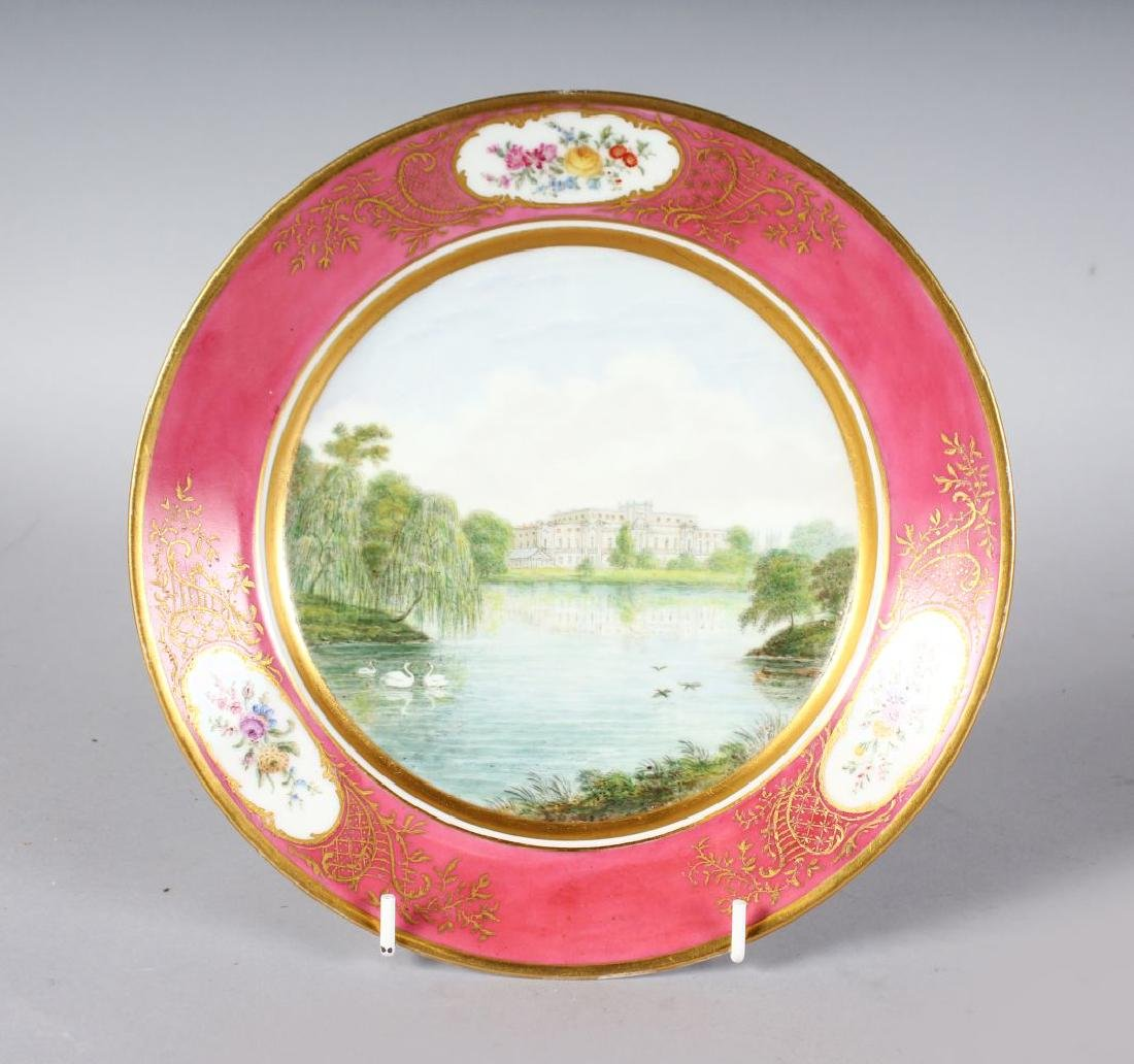 A PARIS PORCELAIN PLATE painted with a titled scene of