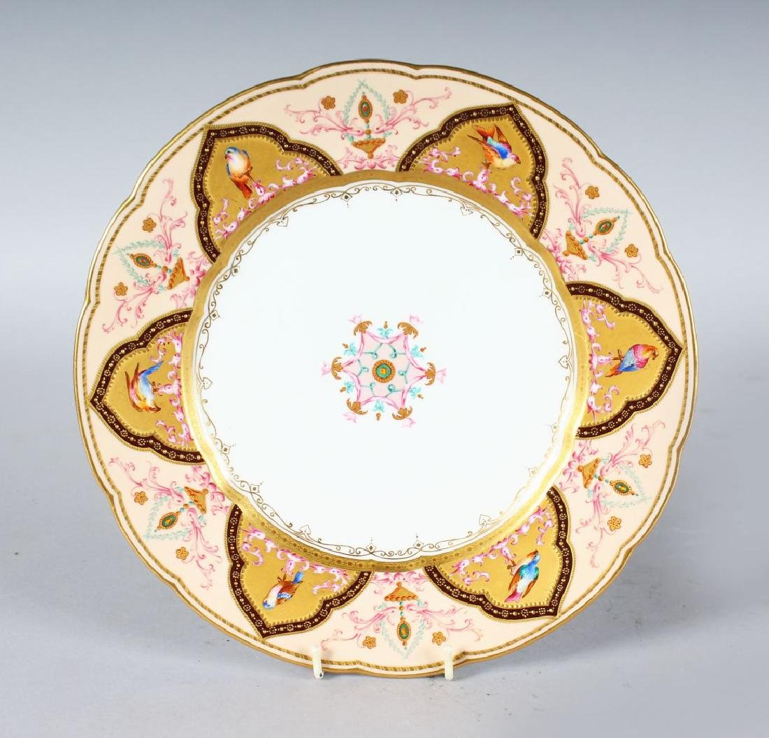 A 19TH CENTURY COPELAND PLATE painted in a Middle