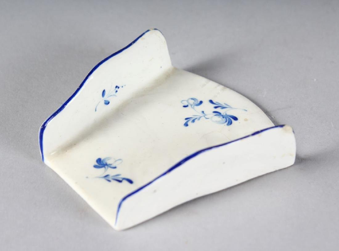 AN 18TH CENTURY DERBY ASPARAGUS SERVER painted in