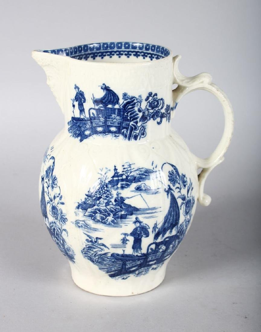 A CAUGHLEY MASK JUG printed with five versions of the