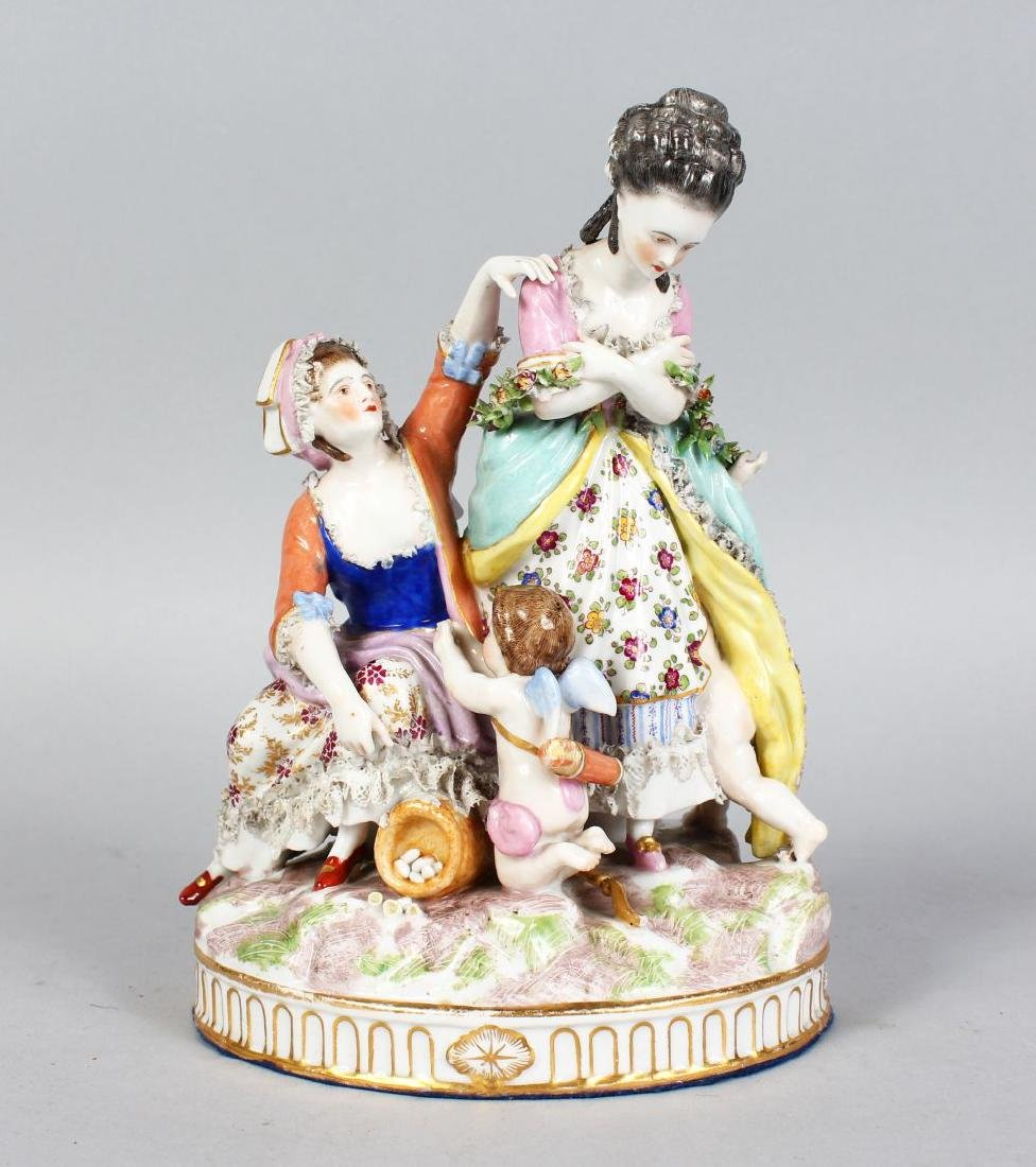 A GOOD SAMSON OF PARIS MEISSEN GROUP OF TWO YOUNG
