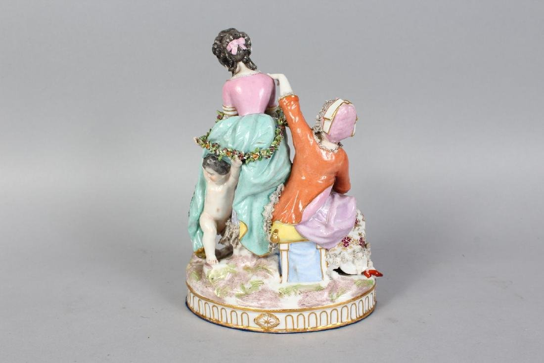A GOOD SAMSON OF PARIS MEISSEN GROUP OF TWO YOUNG - 2