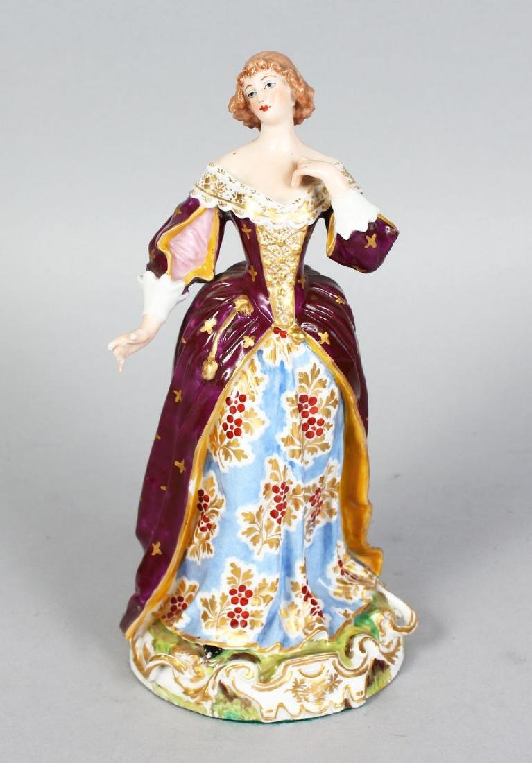 A SAMSON OF PARIS DERBY FIGURE OF A YOUNG LADY wearing