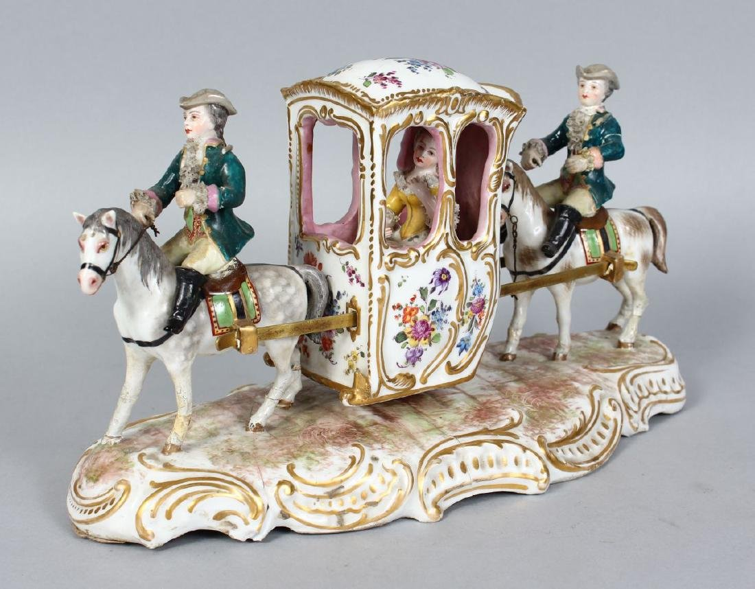 A SAMSON OF PARIS GROUP OF TWO MEN ON HORSES CARRYING A
