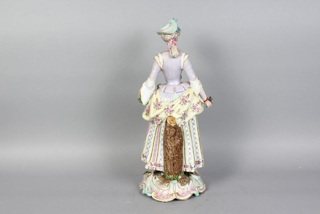 "A LARGE ""MEISSEN"" MODEL OF A YOUNG LADY, carrying a - 2"