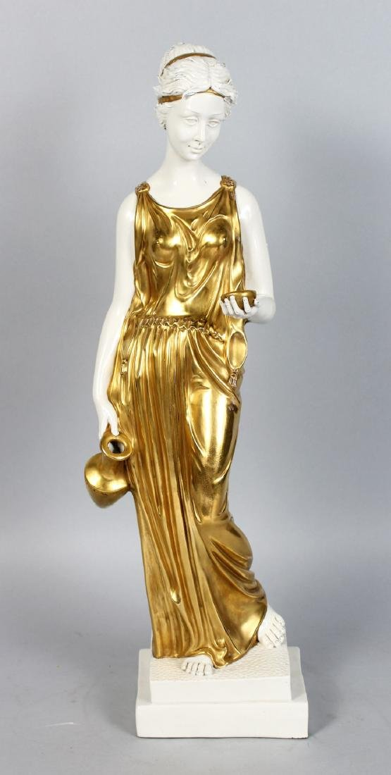 A GOOD CAPODIMONTE FIGURE OF A CLASSICAL YOUNG LADY,