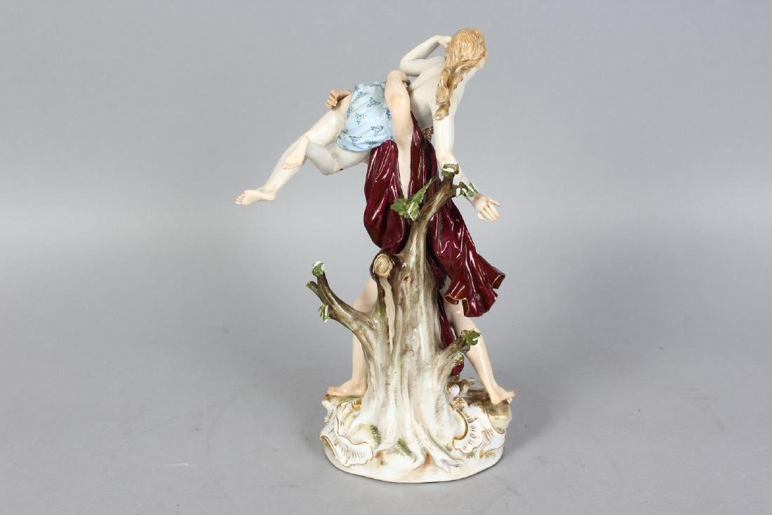 A GOOD MEISSEN CLASSICAL GROUP, A YOUNG LADY BEING - 2