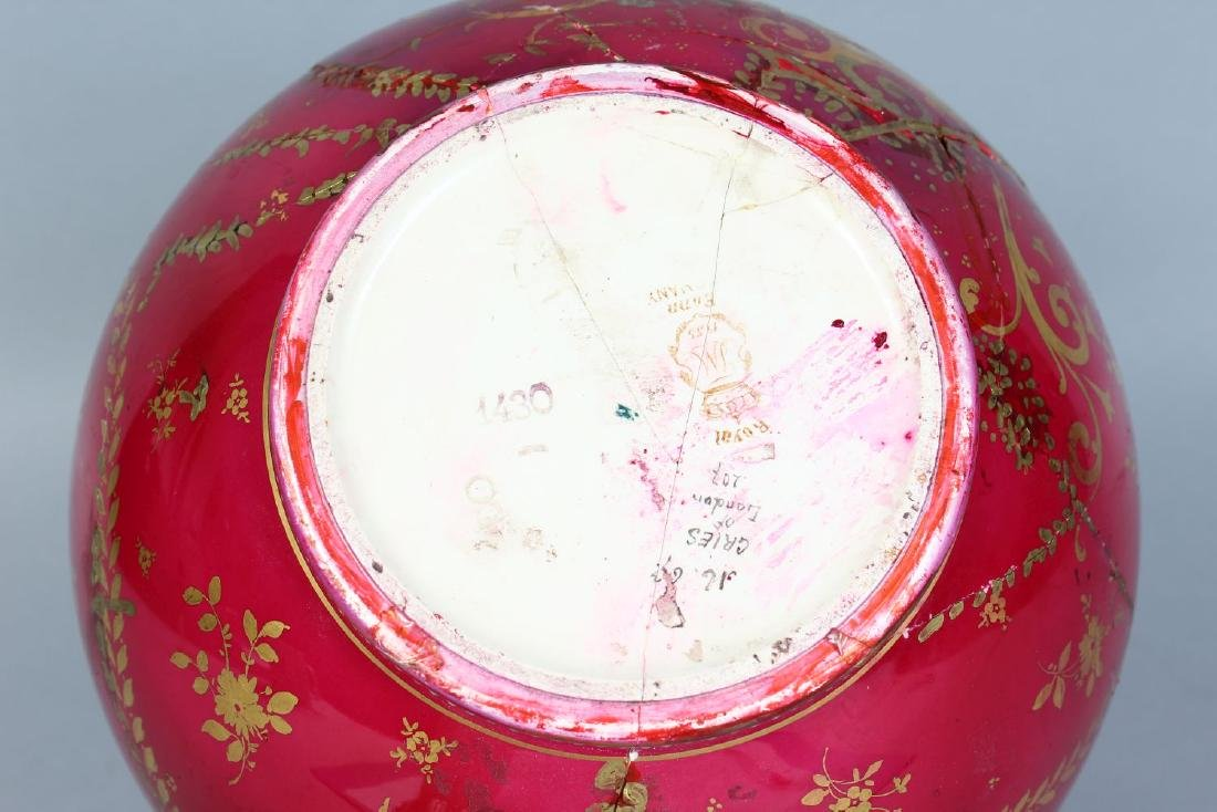 A ROYAL BONN POTTERY VASE painted with The Cries of - 3