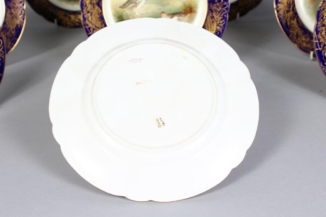 A SET OF TEN FOLEY CHINA BIRD PLATES, edged in blue and - 2