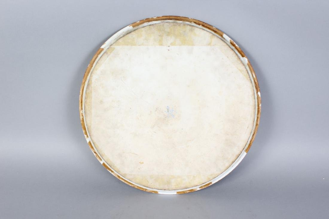 A LARGE SEVRES CIRCULAR PLAQUE painted with a battle - 2