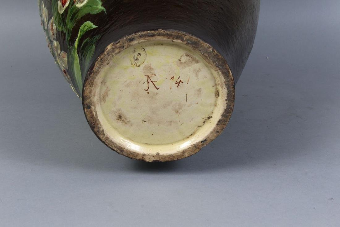 A LARGE DOULTON LAMBETH STONEWARE VASE painted with - 2
