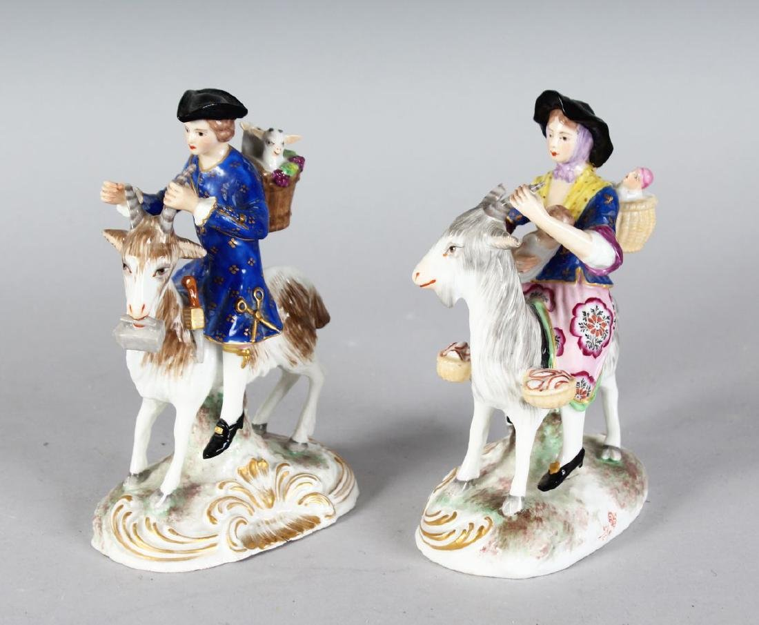 "A PAIR OF SAMSON ""DERBY"" FIGURES, COBBLER & HIS WIFE"