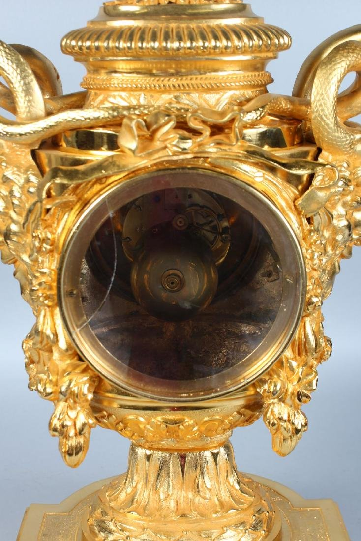 A SUPERB BRONZE AND ORMOLU CLOCK, CIRCA. 1880 by - 3