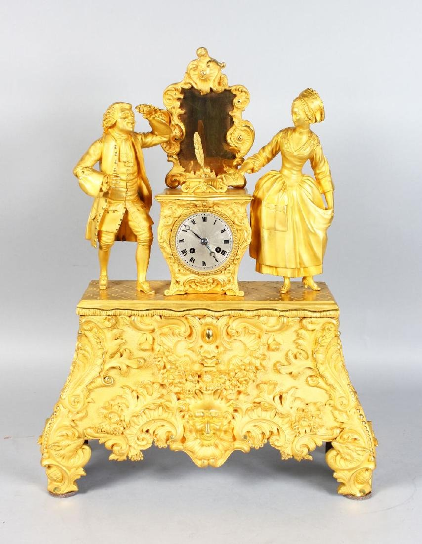 A SUPERB LARGE 19TH CENTURY FRENCH CLOCK, in ormolu,