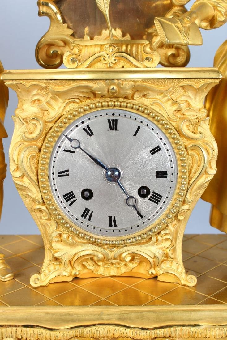 A SUPERB LARGE 19TH CENTURY FRENCH CLOCK, in ormolu, - 2