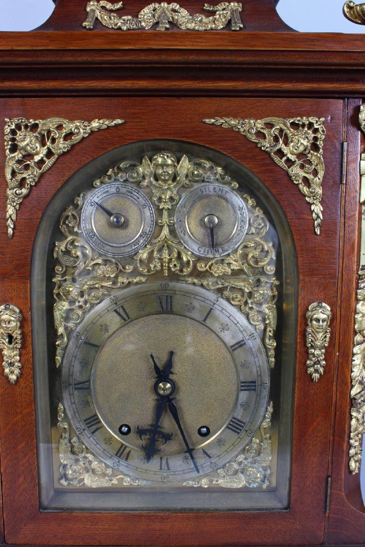 A GOOD VICTORIAN MAHOGANY CASED BRACKET CLOCK, with - 3