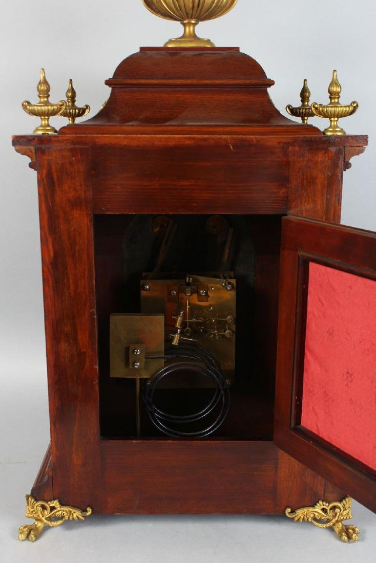A GOOD VICTORIAN MAHOGANY CASED BRACKET CLOCK, with - 4