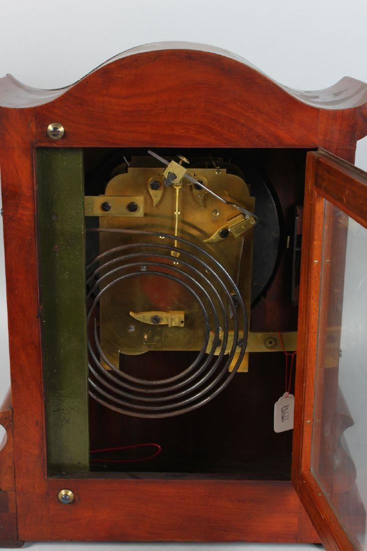 A VICTORIAN MAHOGANY FUSEE MOVEMENT BRACKET CLOCK, with - 4
