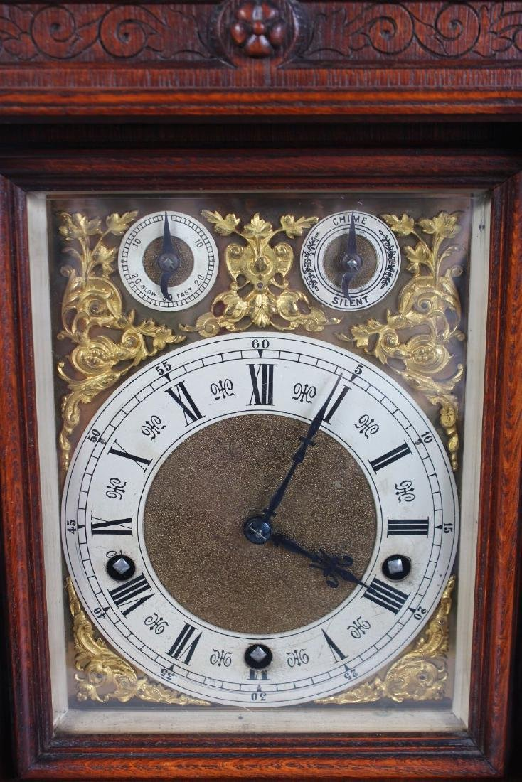 A VICTORIAN OAK CASED BRACKET CLOCK, with eight-day - 2