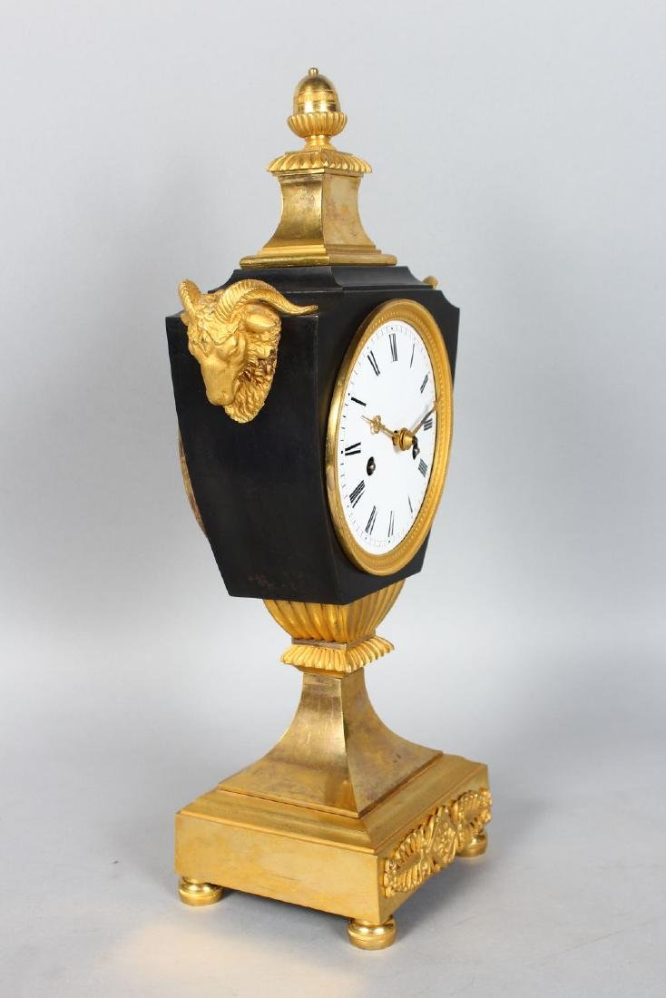 A GOOD FRENCH EMPIRE ORMOLU MANTLE CLOCK,with eight day - 2