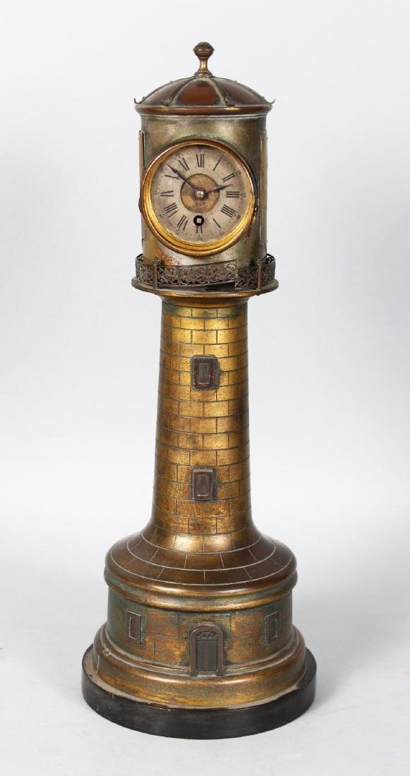 AN UNUSUAL 19TH CENTURY CLOCK IN THE FORM OF A