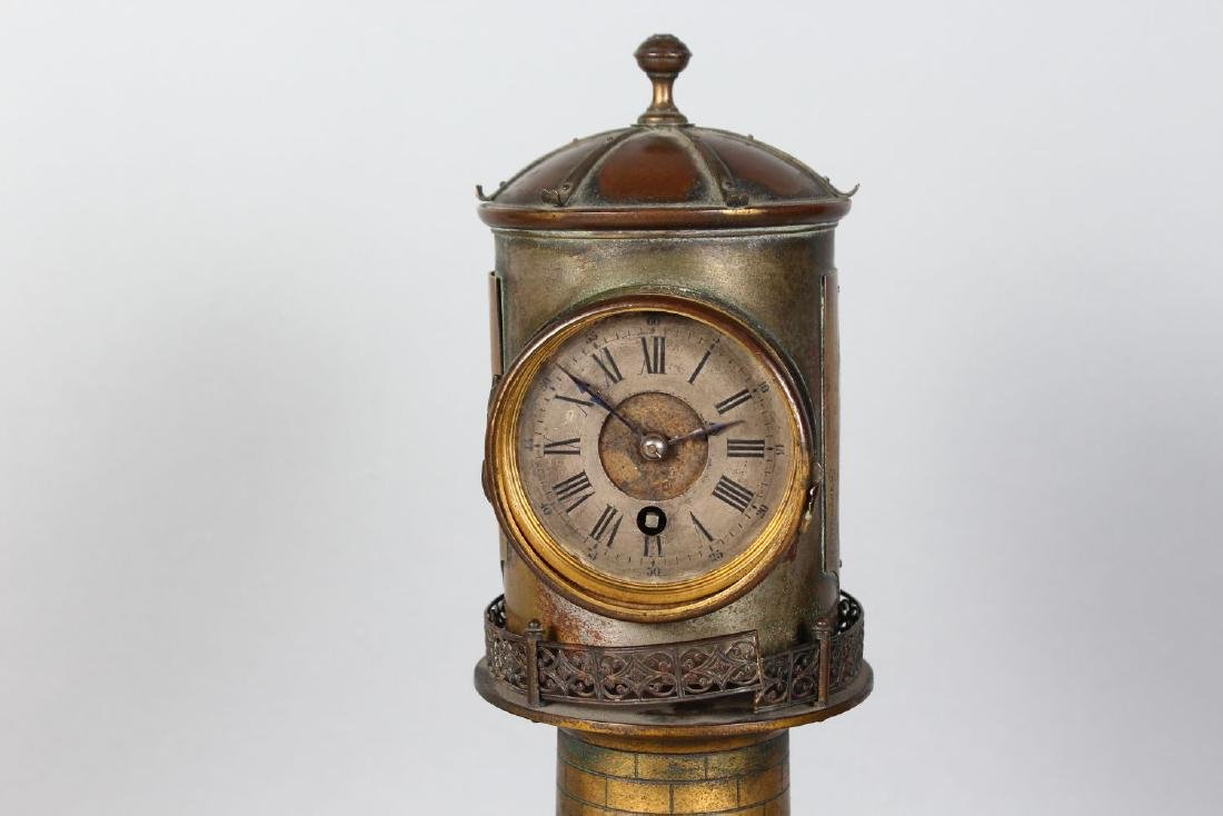 AN UNUSUAL 19TH CENTURY CLOCK IN THE FORM OF A - 2