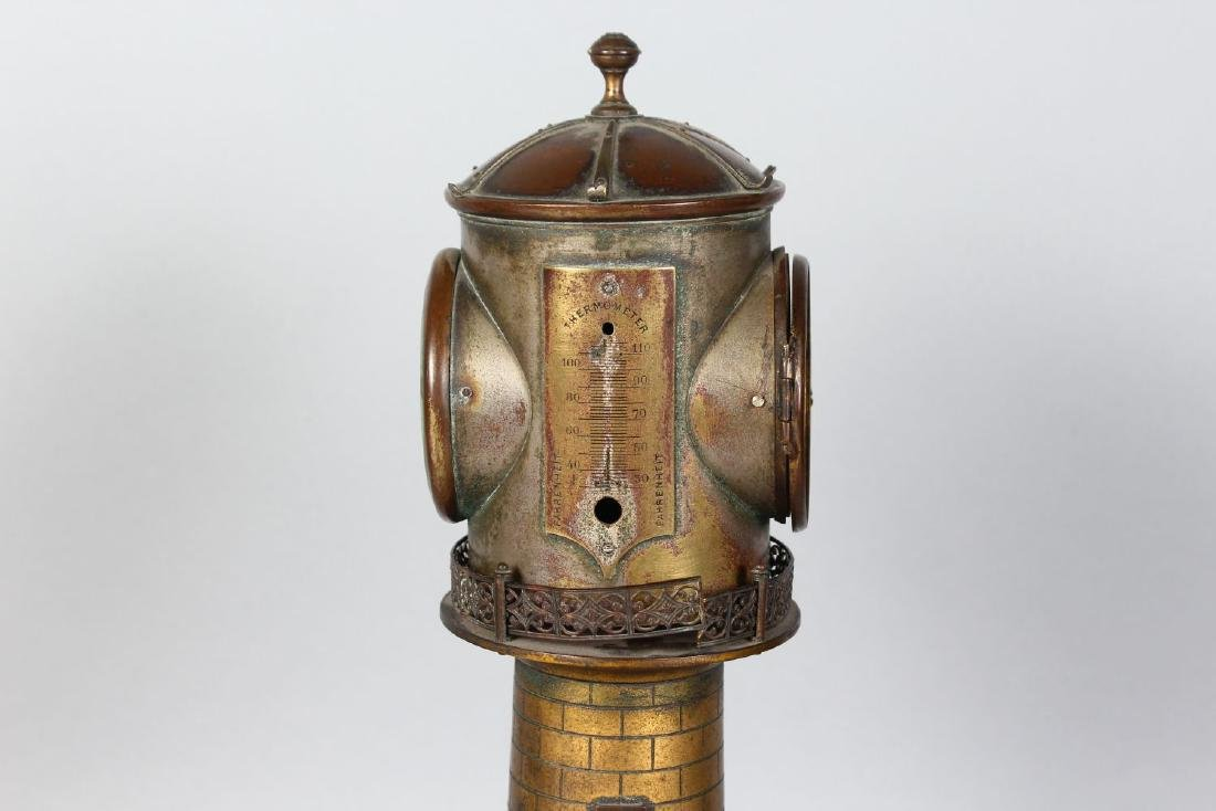 AN UNUSUAL 19TH CENTURY CLOCK IN THE FORM OF A - 4