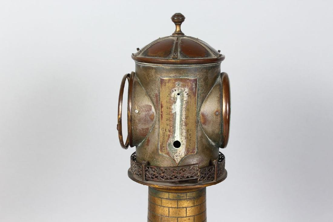 AN UNUSUAL 19TH CENTURY CLOCK IN THE FORM OF A - 5