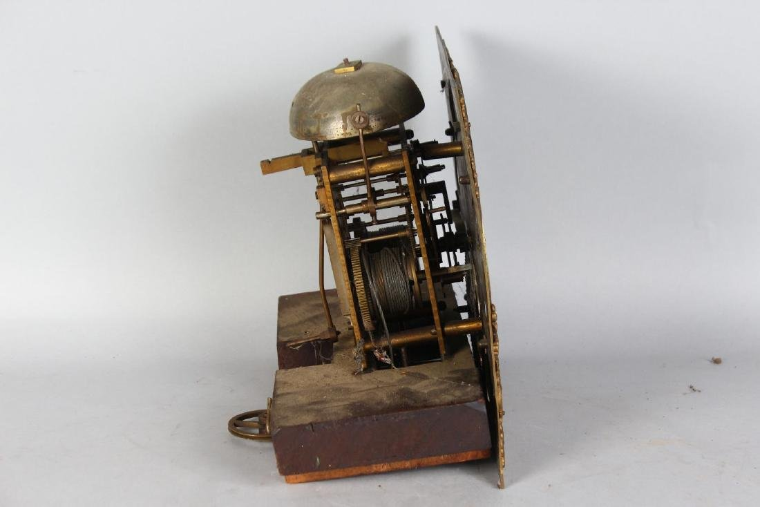 AN 18TH CENTURY 11-INCH DIAL CLOCK MOVEMENT by JAMES - 4