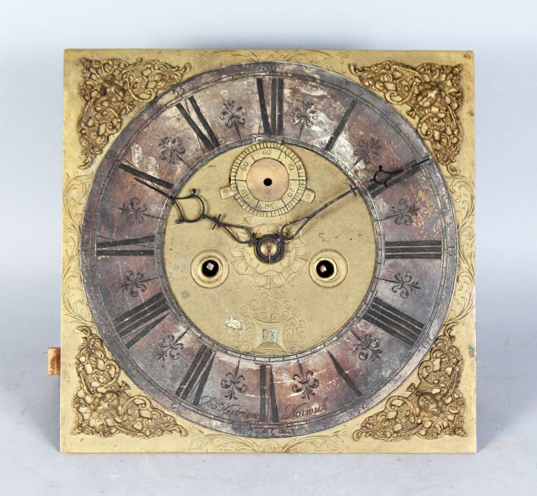AN 18TH CENTURY 12-INCH DIAL CLOCK MOVEMENT by ROB