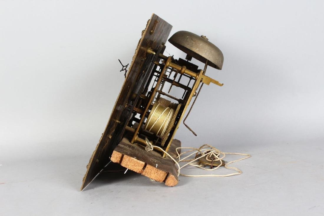 AN 18TH CENTURY 12-INCH DIAL CLOCK MOVEMENT by ROB - 3