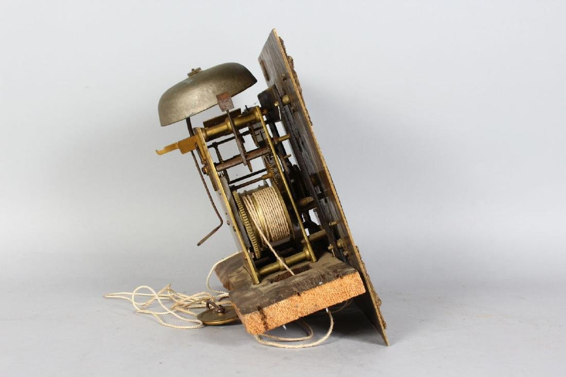 AN 18TH CENTURY 12-INCH DIAL CLOCK MOVEMENT by ROB - 4
