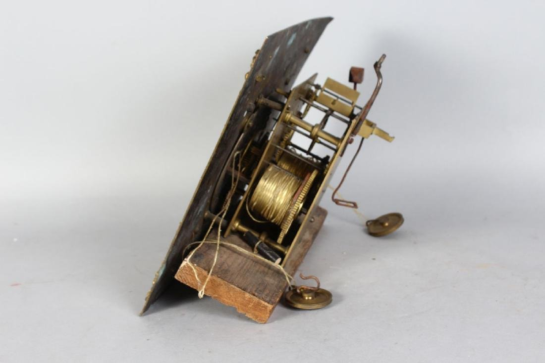 AN 18TH CENTURY 12-INCH DIAL CLOCK MOVEMENT by ROBERT - 3