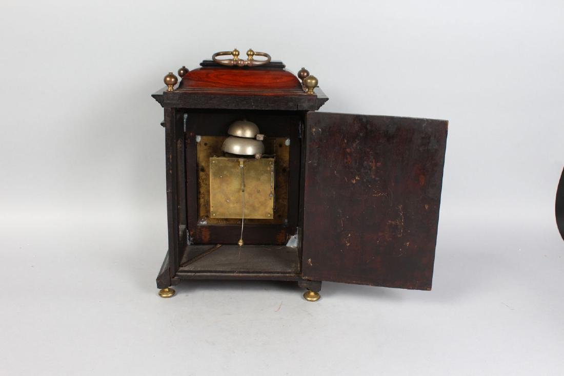 AN 18TH CENTURY MAHOGANY CASED BRACKET CLOCK by W. - 2
