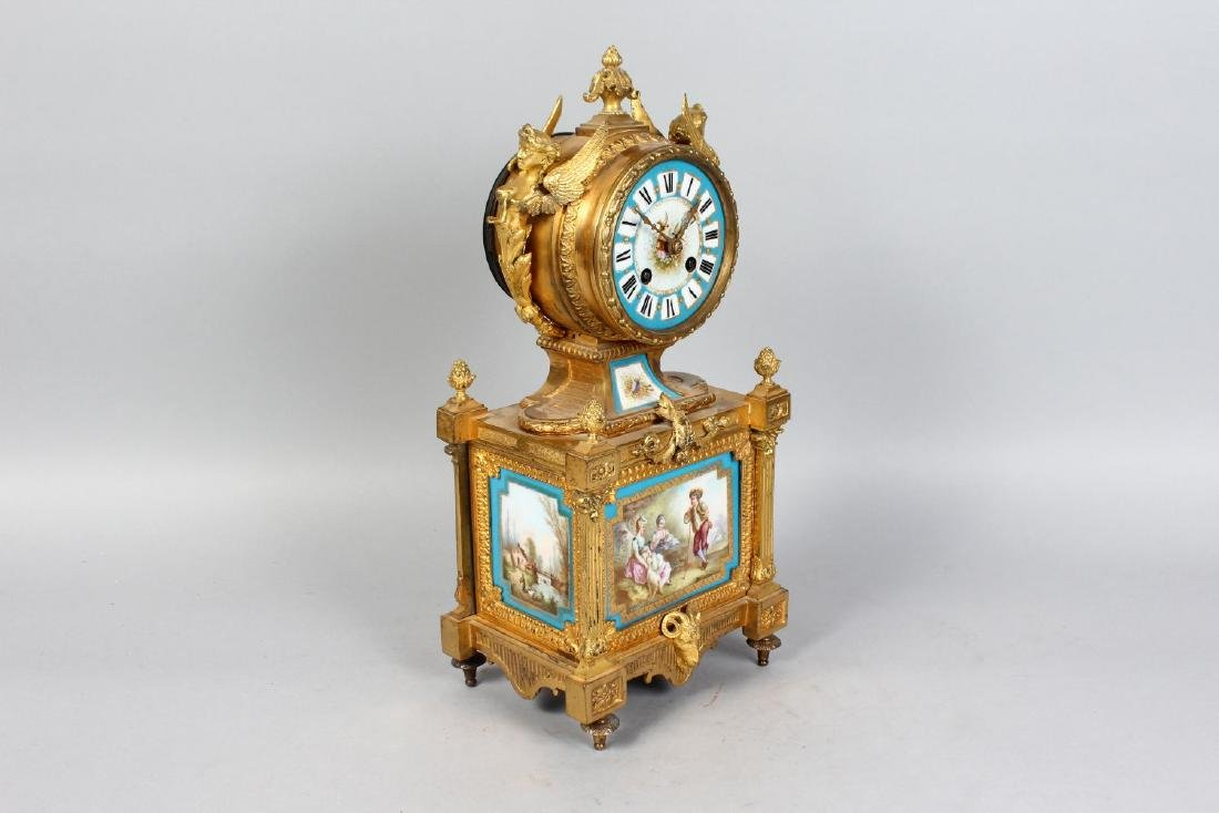 A VERY GOOD 19TH CENTURY FRENCH ORMOLU CLOCK, with - 2