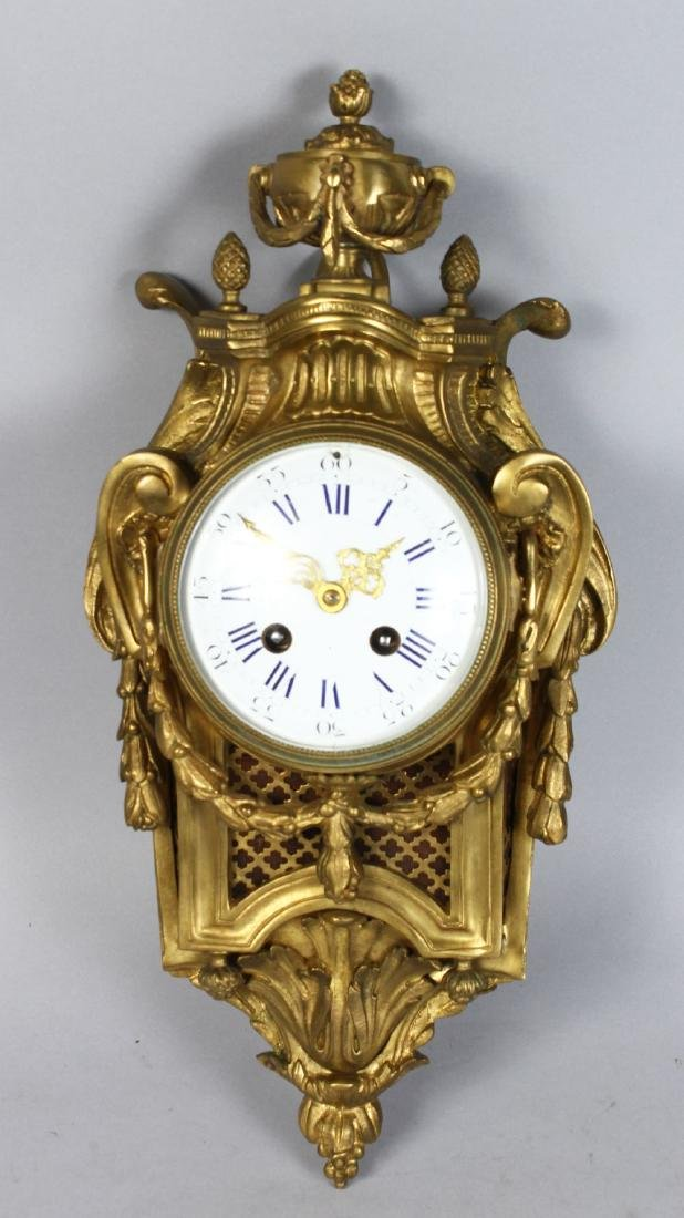 A GOOD 19TH CENTURY FRENCH BRASS CARRIAGE CLOCK, with