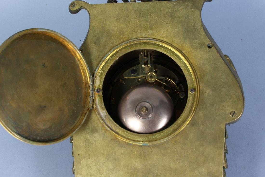 A GOOD 19TH CENTURY FRENCH BRASS CARRIAGE CLOCK, with - 2