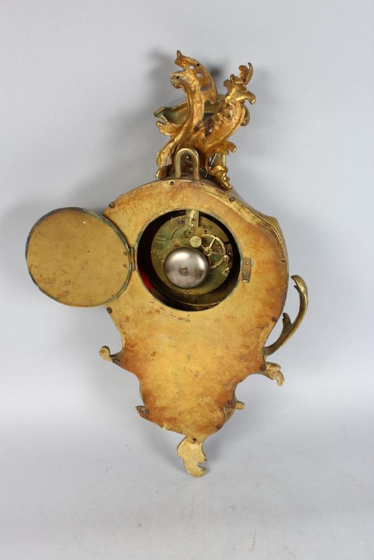 A VERY GOOD 19TH CENTURY LOUIS XVI ORMOLU CARTEL CLOCK - 2