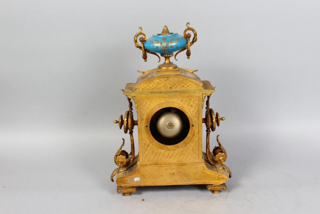 A 19TH CENTURY FRENCH ORMOLU AND SEVRES PORCELAIN - 2