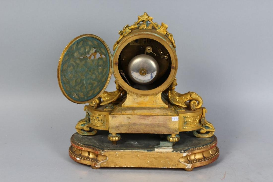 A GOOD 19TH CENTURY FRENCH ORMOLU AND SEVRES PORCELAIN - 2