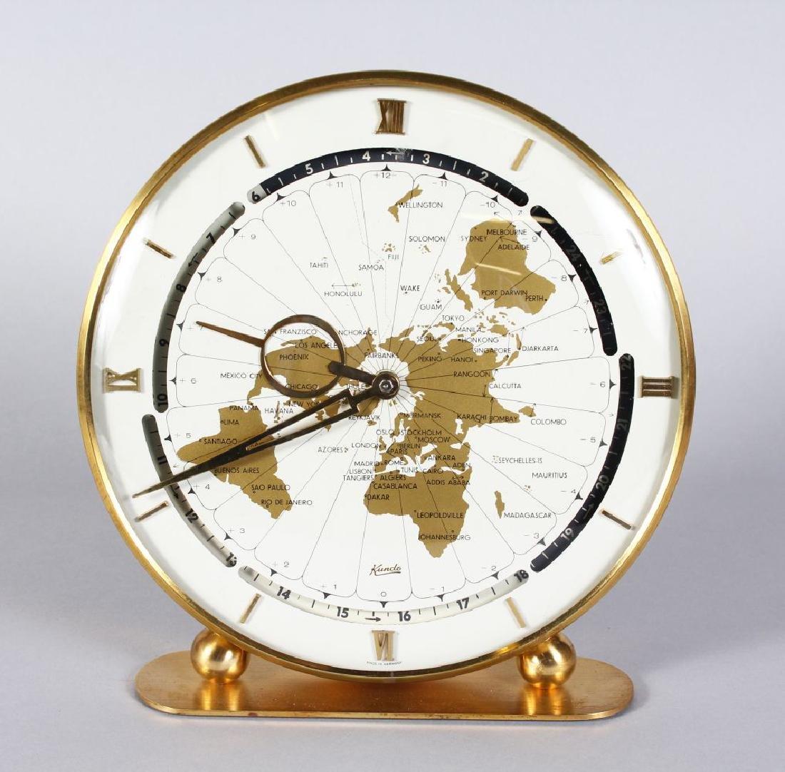 A KUNDO CIRCULAR CLOCK OF THE WORLD.  9ins diameter.