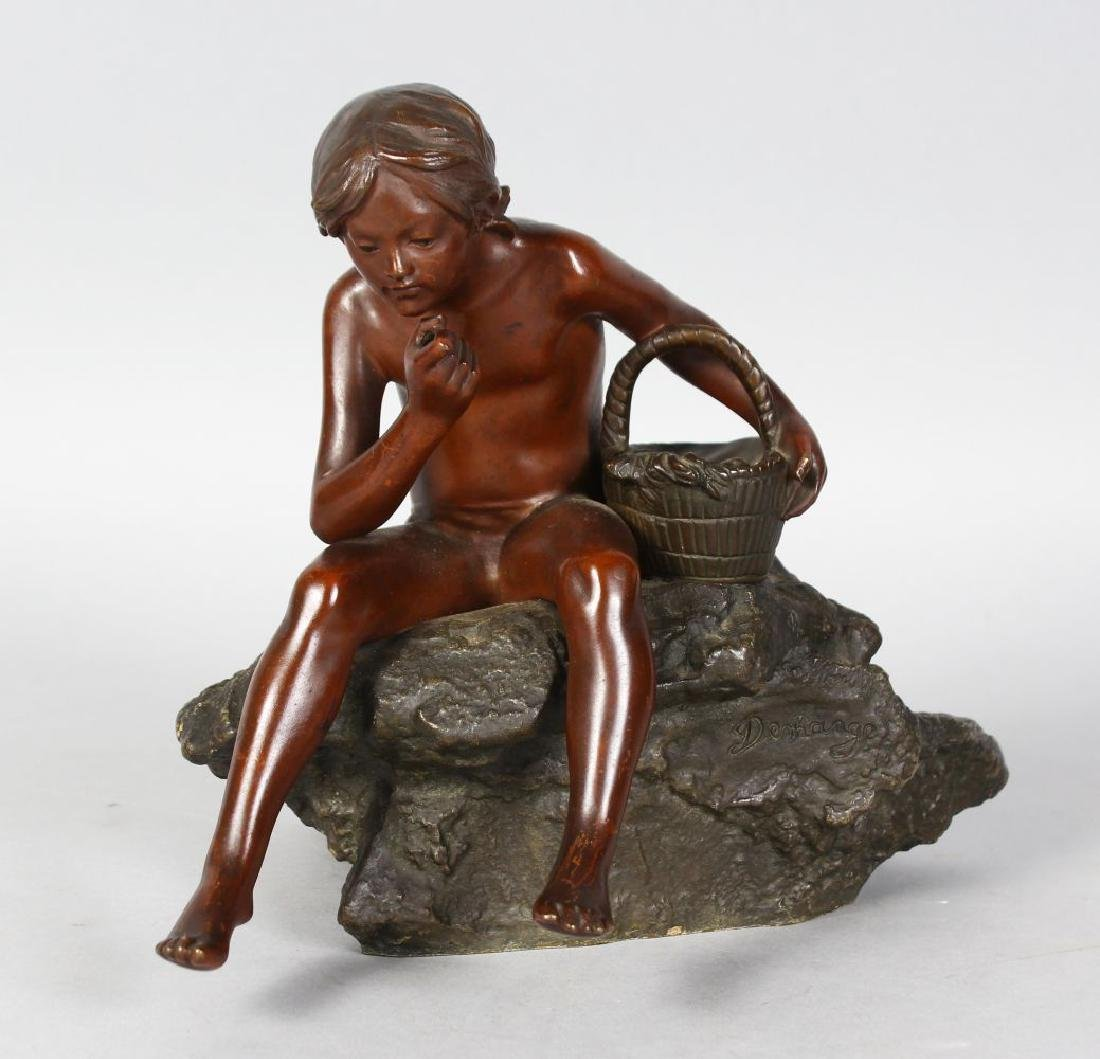 PAUL DEMANGE (19TH CENTURY)  A GOOD SMALL BRONZE OF A