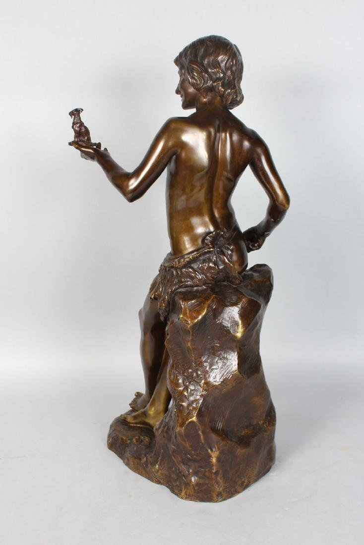 """J. LORIEUX (1876-1915) FRENCH  """"THE GOAT CARVER"""", A - 3"""