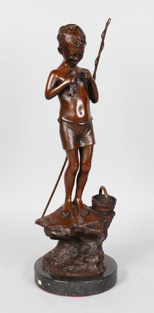 "GIOVANNI DE MARTINO (1870-193) ITALIAN  ""FISHING BOY"""