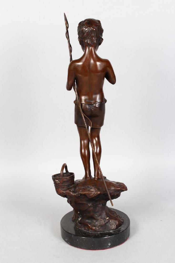 "GIOVANNI DE MARTINO (1870-193) ITALIAN  ""FISHING BOY"" - 3"
