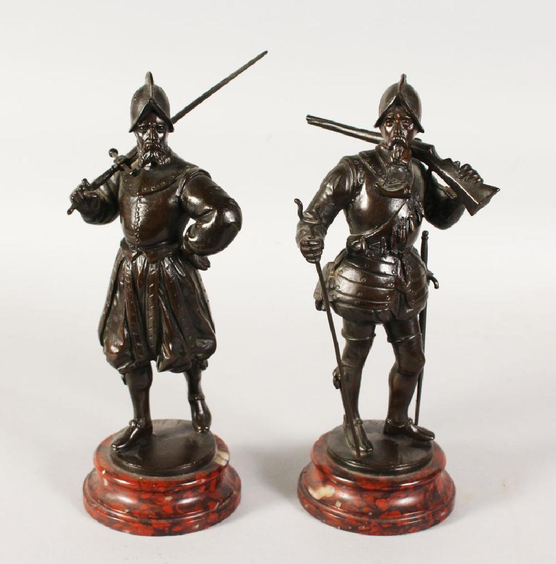 EMILE GUILLEMIN (1841-1907) FRENCH  A PAIR OF BRONZE