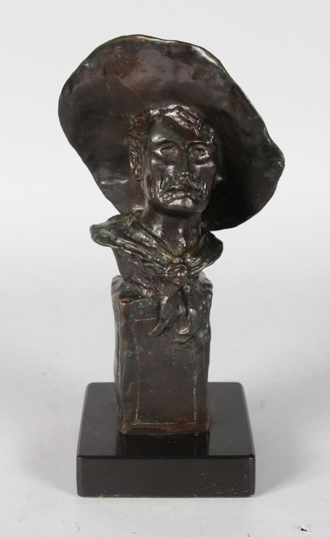 """AFTER FREDERIC REMMINGTON  THE """"SERGEANT"""".  A BRONZE"""