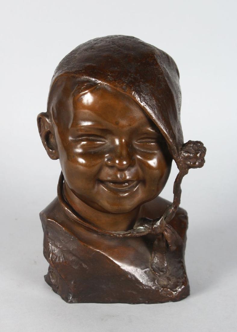 PIETRO PIRAINO (1878-1950)  MIO BAMBINA.  A BRONZE