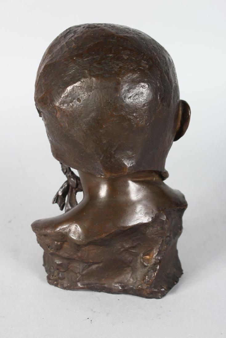 PIETRO PIRAINO (1878-1950)  MIO BAMBINA.  A BRONZE - 2
