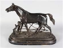 PIERRE JULES MENE (1810-1877) FRENCH  CHEVAL A LA